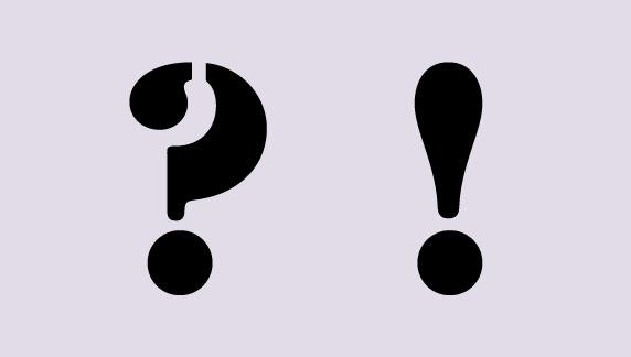 <b>Question Mark, Exclamation Mark</b>