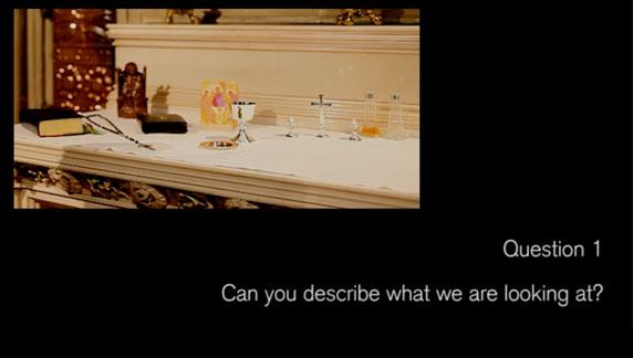 Video 5. Christianity. Question..Can you describe what we are looking at?