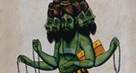 A Rishi with Five Heads and Four Arms
